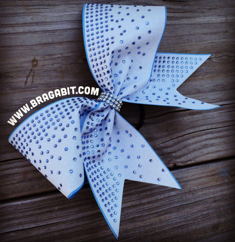 Default Type - White Bow With Blue Rhinestones