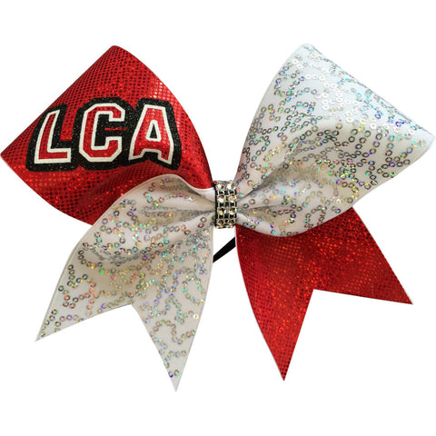 White sequins and holographic fabric with glitter LCA. You can leave a note with your team name - BRAGABIT  - 1
