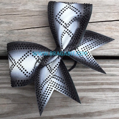 Double Ombré Bow With Diamond Rhinestone Pattern