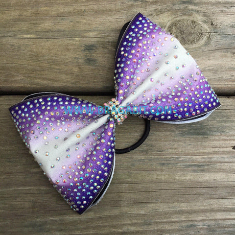 Double Ombré Tailless Bow With Rhinestones
