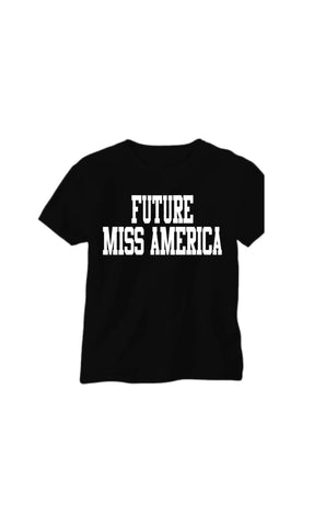 Glitter FUTURE MISS AMERICA t-shirt - BRAGABIT