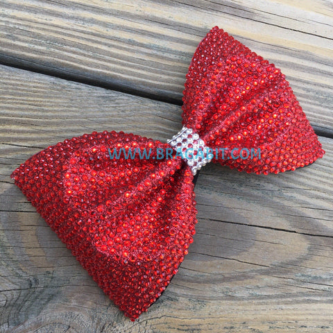 Glitter Tailless Bow Full Of Rhinestones