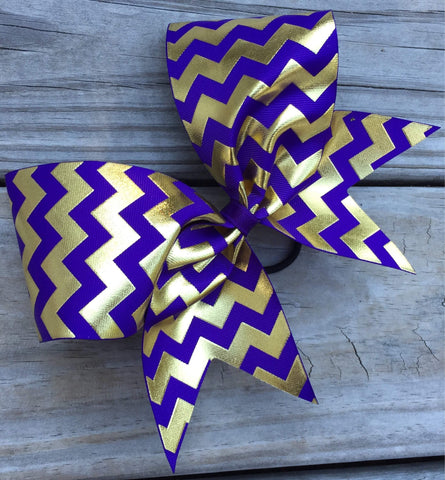 Gold Foil Chevron Design on Ribbon