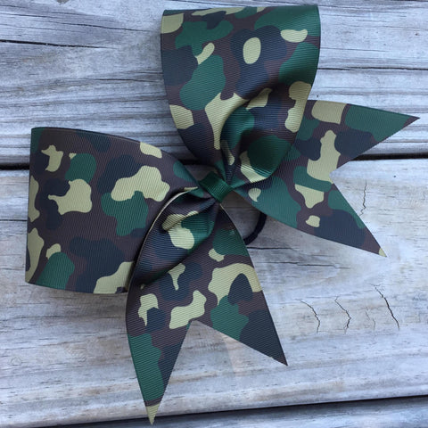 Camouflage Ribbon Bow