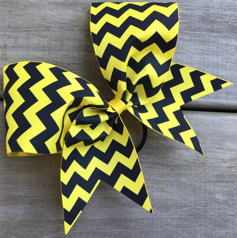 Black Chevron Ribbon Bow