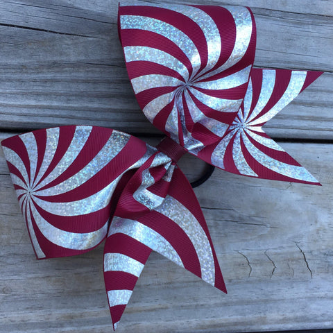 Silver Hologram Ribbon Bow
