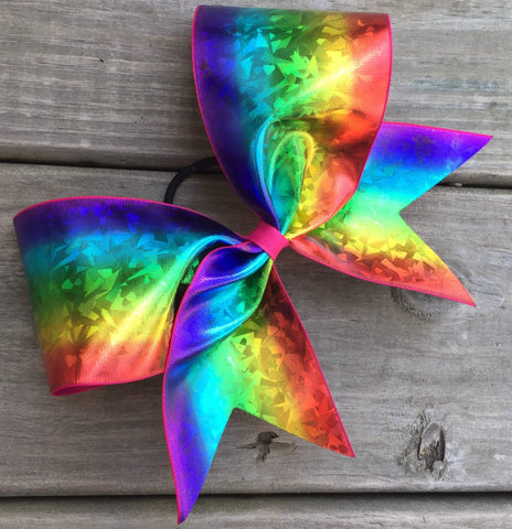 Rainbow Ribbon Bow