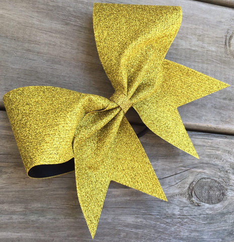 Adel Cheer Bow in Gold Glitter