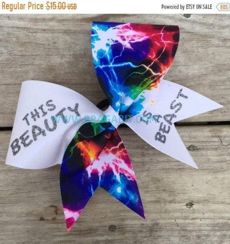 This Beauty is a Beast Multi Color Bow