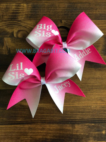 Big Sis Lil Sis Ombre Bow Set (2 BOWS)