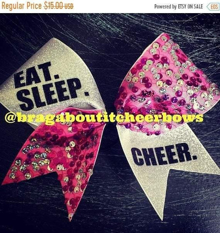 Eat. Sleep. Cheer. Cheer Bow