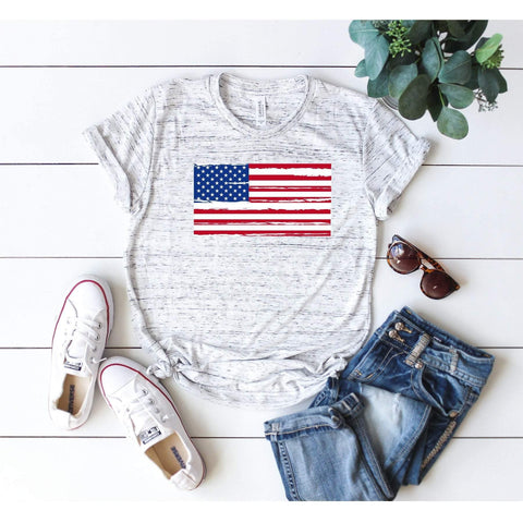 American Flag Distressed T-Shirt