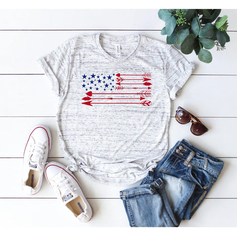 American Flag Stars and Arrows T-Shirt