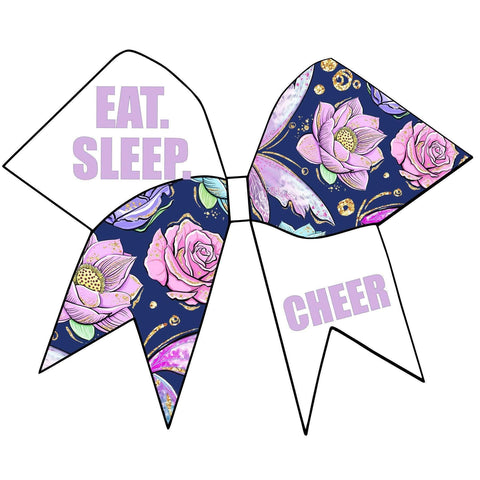 Eat. Sleep. Cheer. Glitter Cheer Bow
