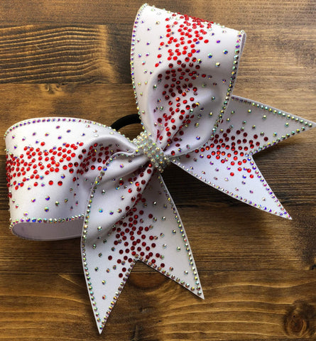 Abi Rhinestone Cheer Bow