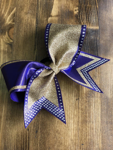 Abra Rhinestone Cheer Bow