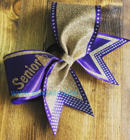 Agata Rhinestone Cheer Bow