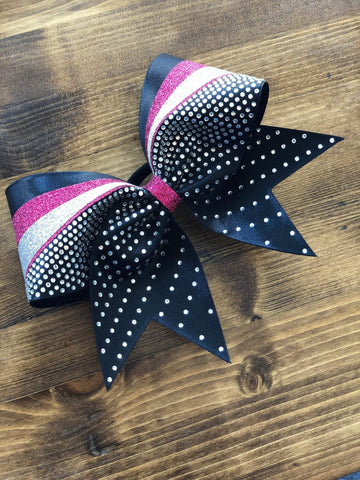 Alda Rhinestone Cheer Bow