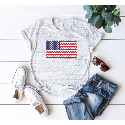 American Flag Chevron T-Shirt