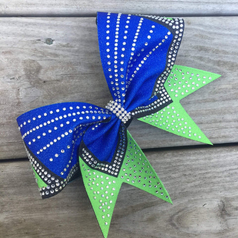 Anna Rhinestone Cheer Bow