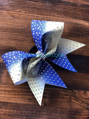Scatter to Grid Heavy Rhinestone Cheer Bow