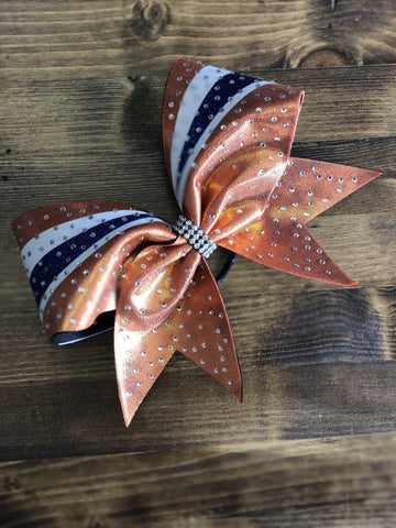 Aurora Rhinestone Cheer Bow