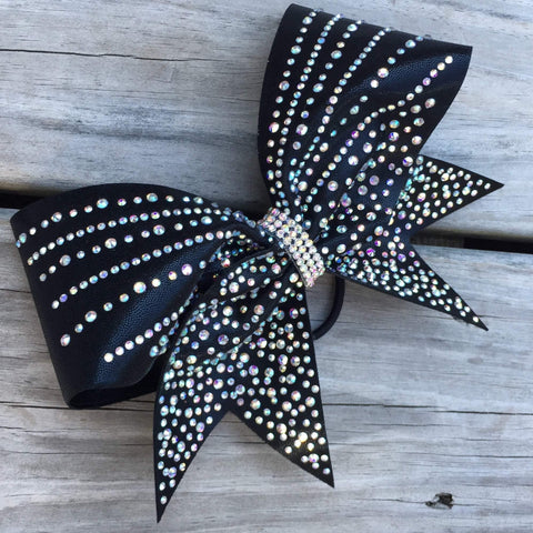 Beach Rhinestone Cheer Bow