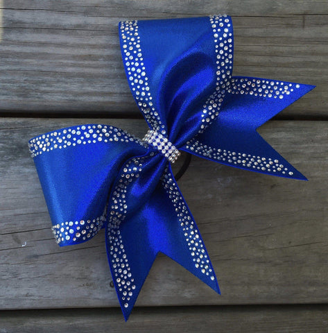 Berry Rhinestone Cheer Bow