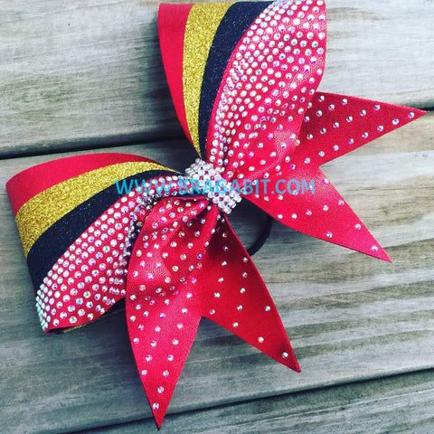 Blanca Rhinestone Cheer Bow