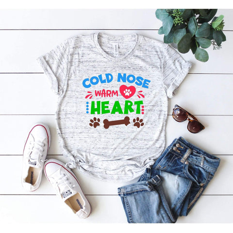 Cold Nose Warm Heart T-shirt