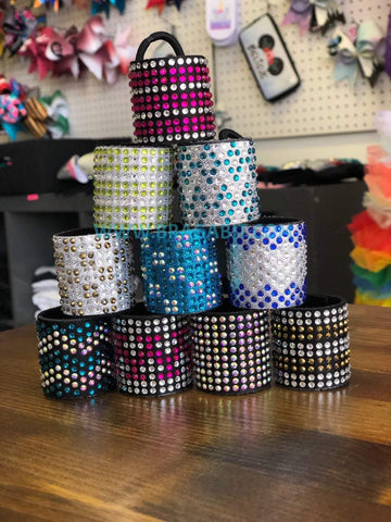 Hair cuffs, rhinestones hair cuffs, cheer cuffs. Bragabit