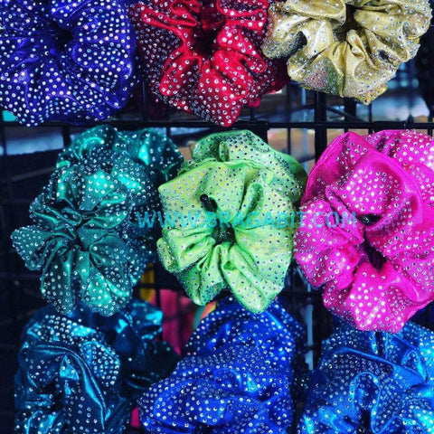 Full Bling Rhinestone Mystique Fabric Scrunchie