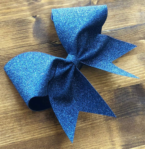 Adel Cheer Bow in Sapphire Glitter