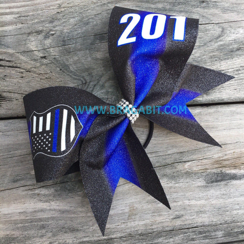 Custom Number/Text Police Support Bow