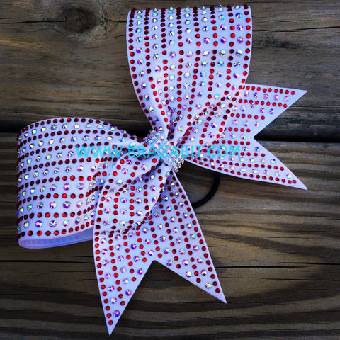 Alaska Rhinestone Cheer Bow