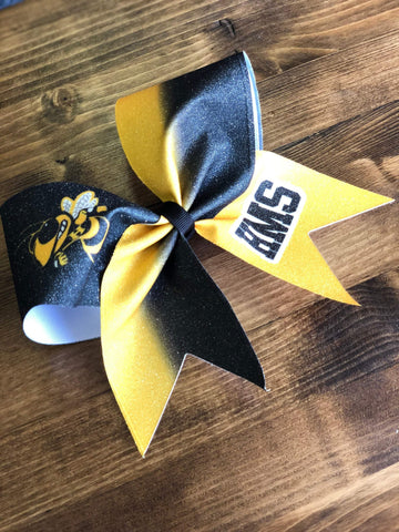 Amali Cheer Bow with Your Mascot and Colors