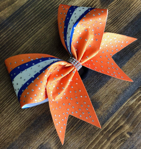Ami Rhinestone Cheer Bow