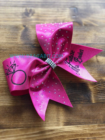 Bride Rhinestone Cheer Bow