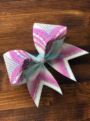 Girl Power Rhinestone Cheer Bow