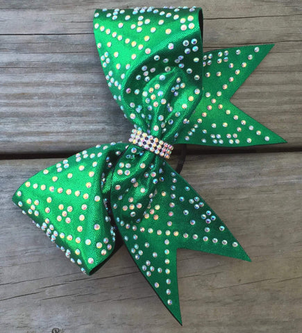 Beta Rhinestone Cheer Bow