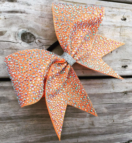 Brandy Rhinestone Cheer Bow