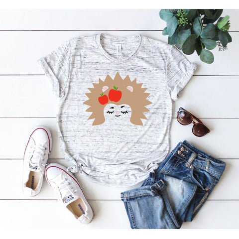 Hedgehog With Apples T-shirt