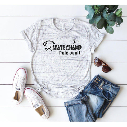 Pole Vault State Champ T-shirt Custom Logo