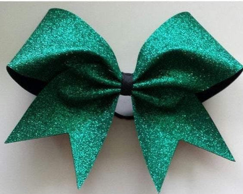 Adel Bow in Emerald Glitter