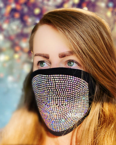 Rhinestone Face Mask / Washable / Dust Mask/ Face Mask with Rhinestones / Sparkly Face Mask