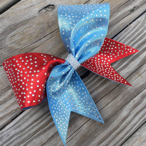 Brett Rhinestone Cheer Bow 2 colors