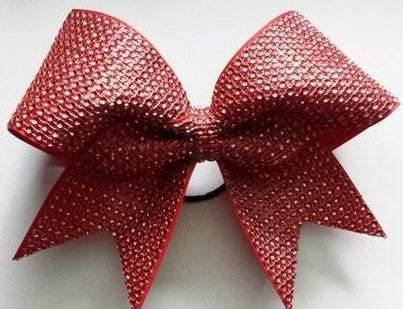Red Rhinestones Cheer Bow