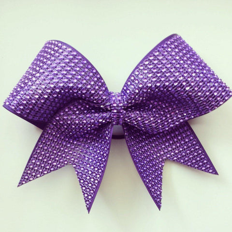 Purple Rhinestones Bow