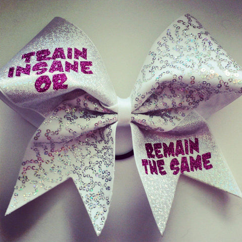 Train Insane or Remain the Same Cheer Bow