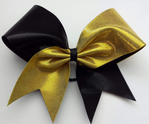 Hunter Cheer Bow in Black and Gold